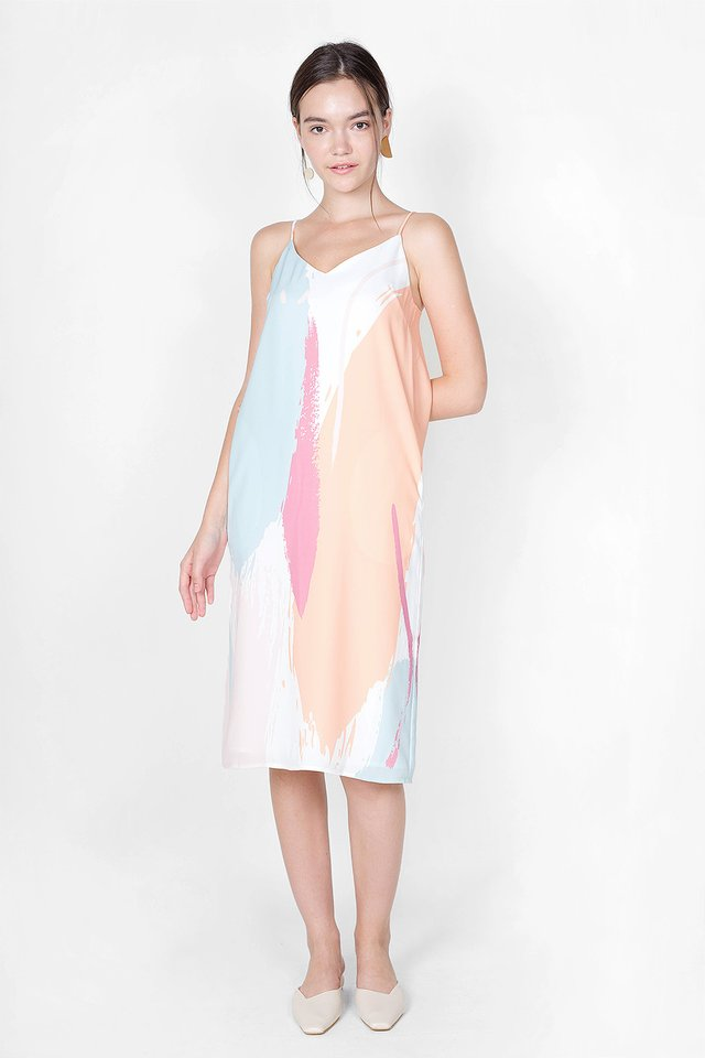 Inspire Spag Slip Dress (Zest)
