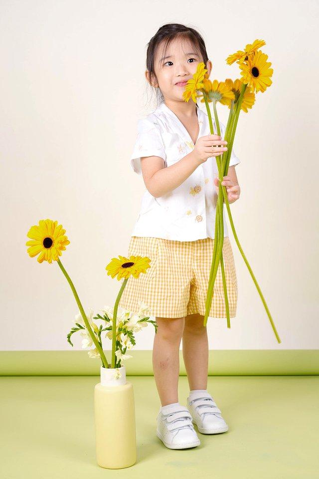 Daffodils Collar Shirt (White)