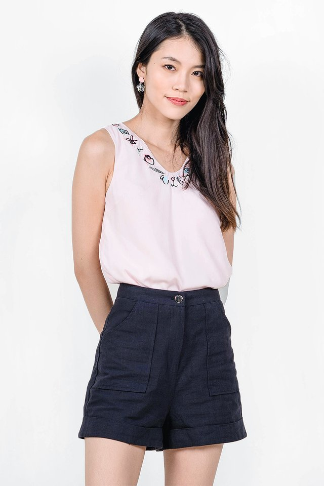 Garden Embroidery Top (Pink)