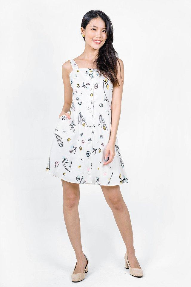 Garden Swing Dress (White)
